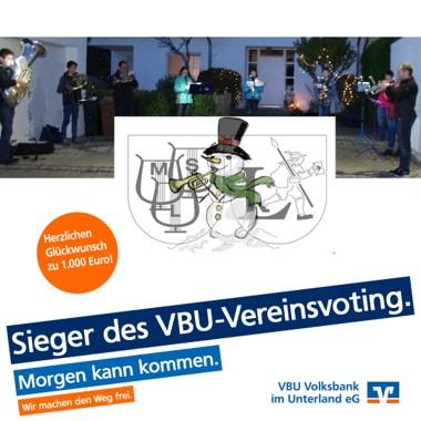Sieger beim VBU-Vereinsvoting